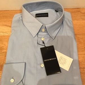 NWT Emporio Armani L/S Button down dress shirt